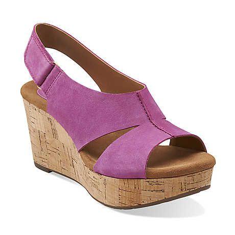 Caslynn Lizzie in Fuchsia Nubuck - Womens Sandals from Clarks
