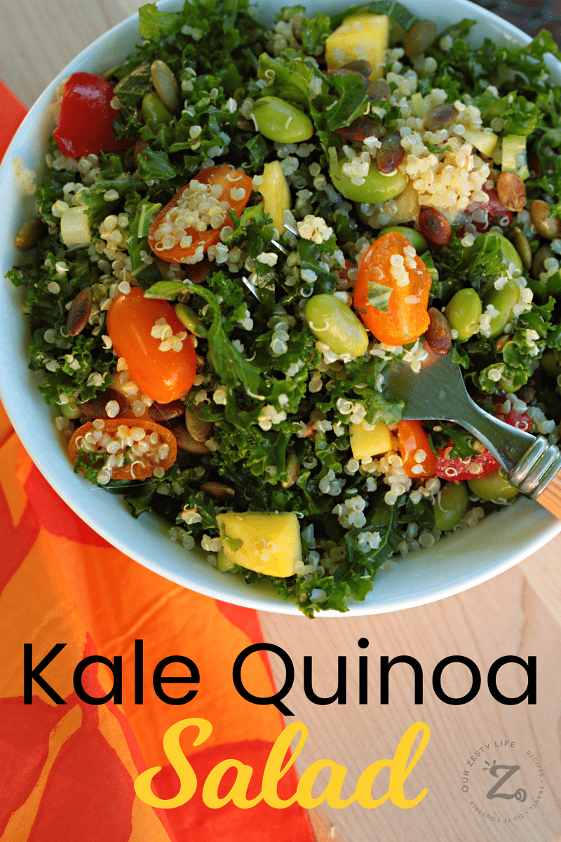 This Is The King Of Kale Salad Recipes Kale Quinoa Salad Not Only Is This A Super Easy Kale Salad Recipe I Kale Salad Recipes Kale Quinoa Salad Quinoa Salad