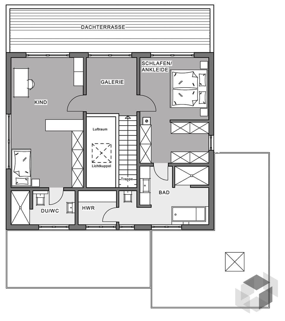 Fertighaus Bauhaus-Villa von Meisterstück-HAUS | Fertighaus ...