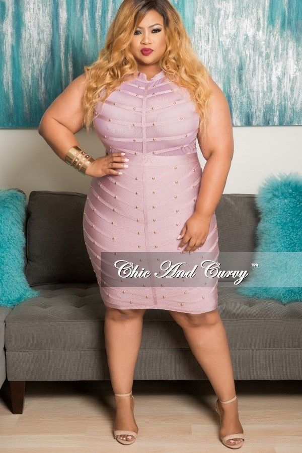 d51b174e82 Final Sale Plus Size BodyCon Sleeveless Mesh Panel Dress with Sheer Top in  Mauve