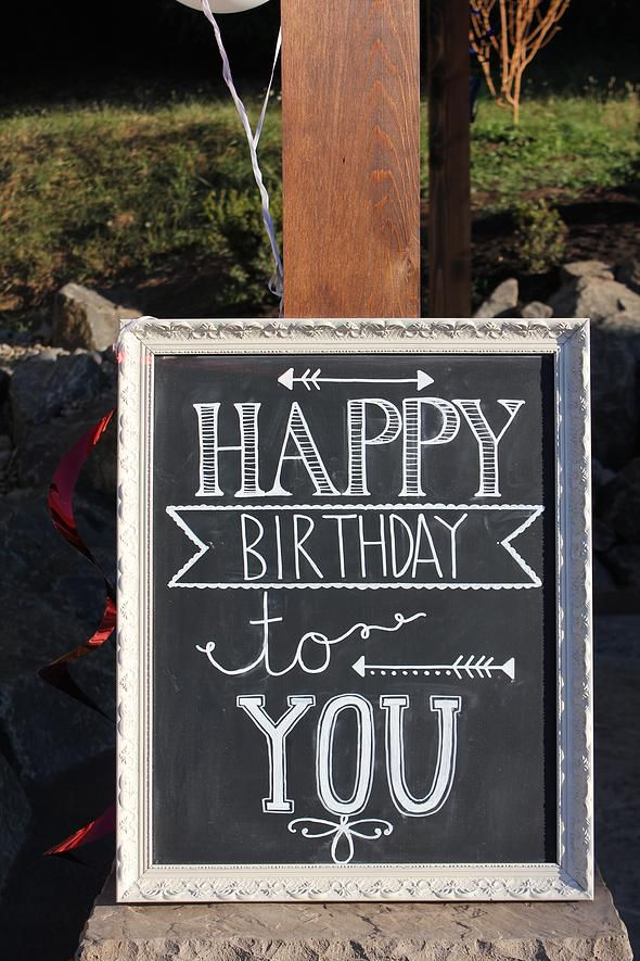 Happy Birthday Chalkboard DIY Pretty Little Blackboard