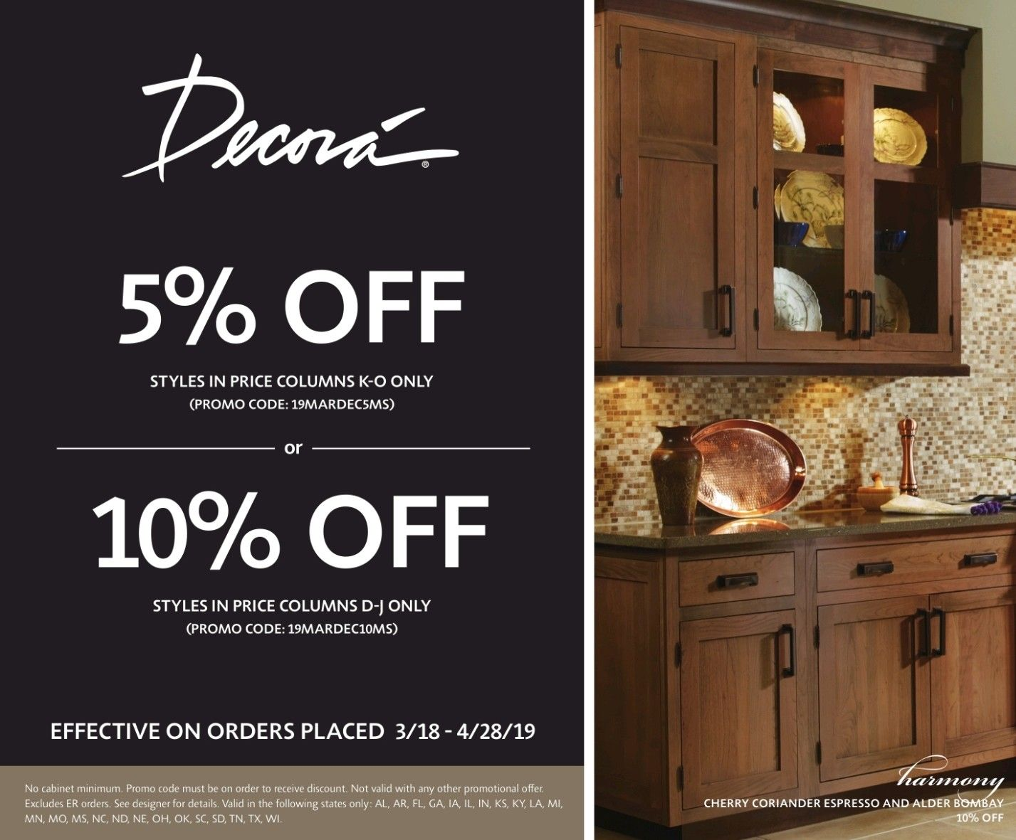 Decora Cabinetry S Spring Promo Up To 10 Off Select Styles Today