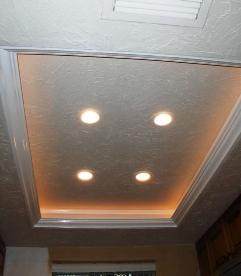 Another Tray Ceiling/recessed Lighting Idea To Replace The Fluorescent Kitchen  Lights