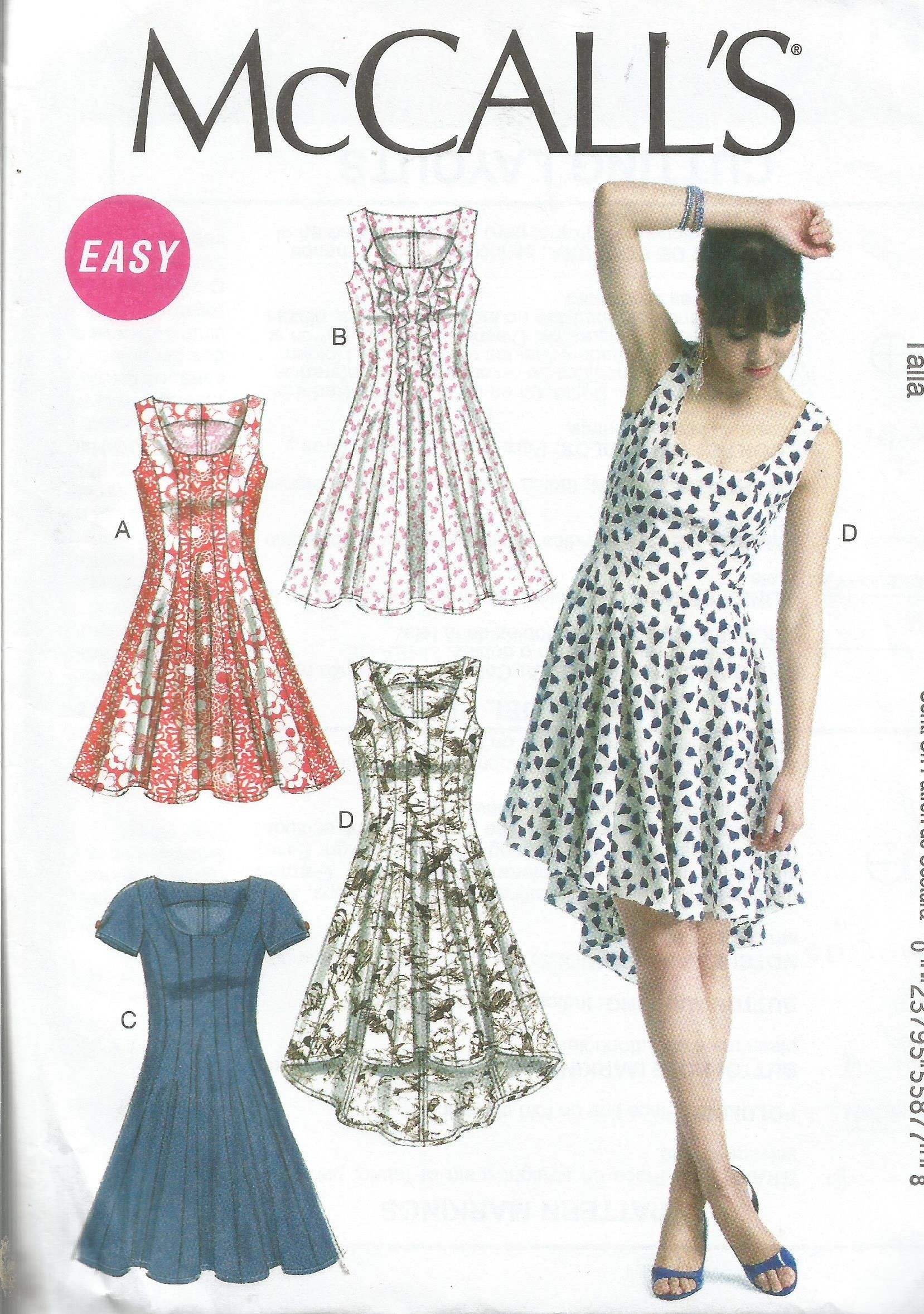 Misses Dress Patterns, McCalls 6504, Sizes 6 - 14 -   18 casual dress Patterns ideas