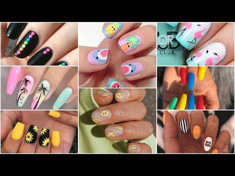 Summer Nail Art Design 2020 Summer Nail Polish Color 2020 Summer Nail Art Design Ideas For Girls In 2020 Nail Polish Colors Summer Nail Art Summer Summer Nail Polish