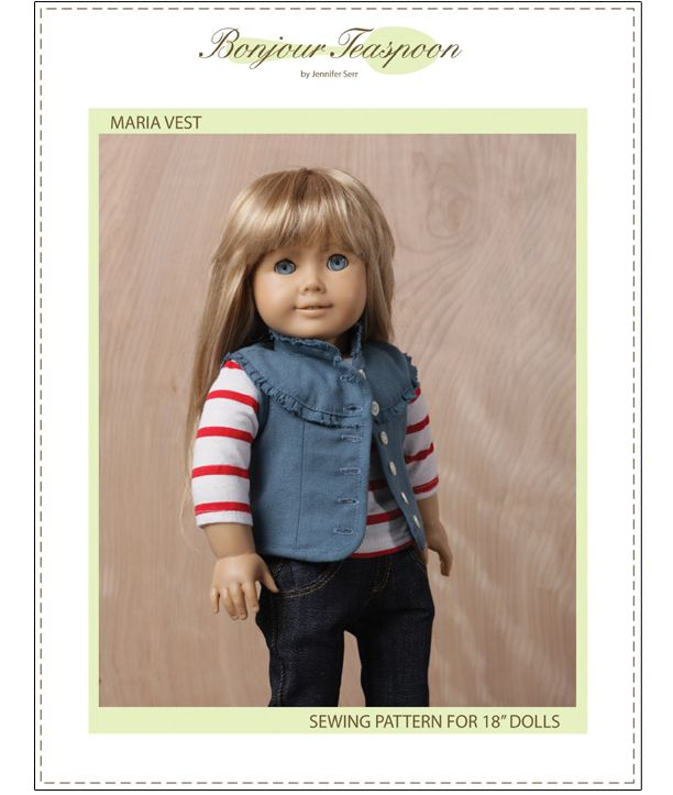 Maria Vest 18 Doll Clothes Pattern Free Printable Liberty And Dolls
