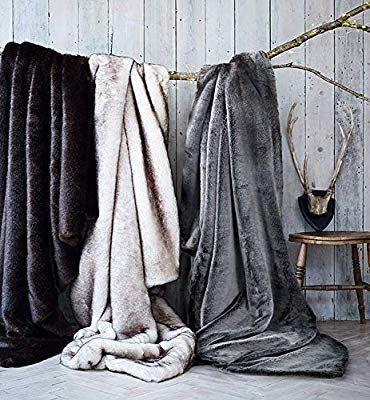 Amazon Com Double Sided Faux Fur Throw Blanket Silky Soft