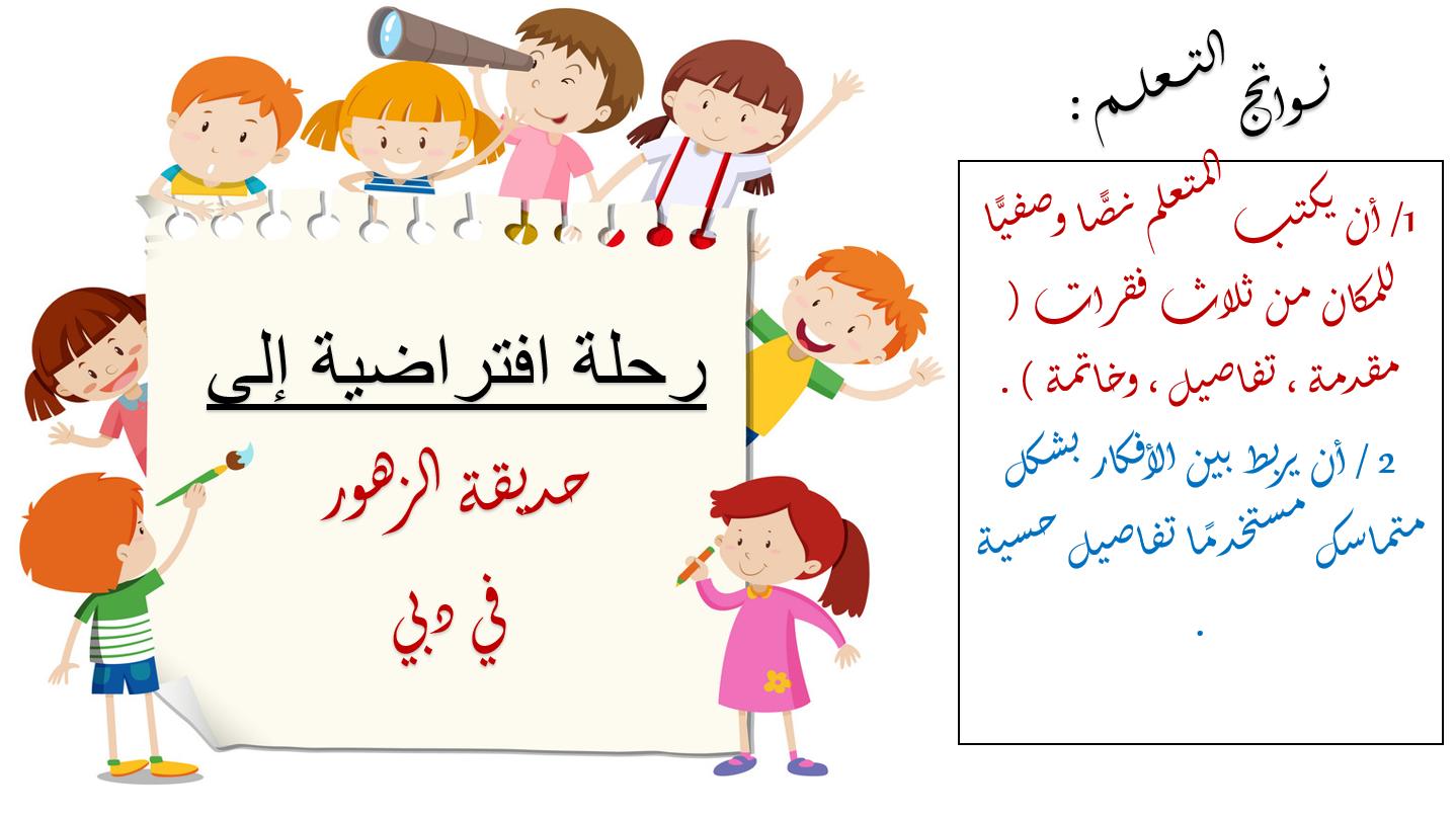 بوربوينت رحلة افتراضية الى حديقة الزهور للصف الرابع مادة اللغة العربية School Activities Learn English Activities