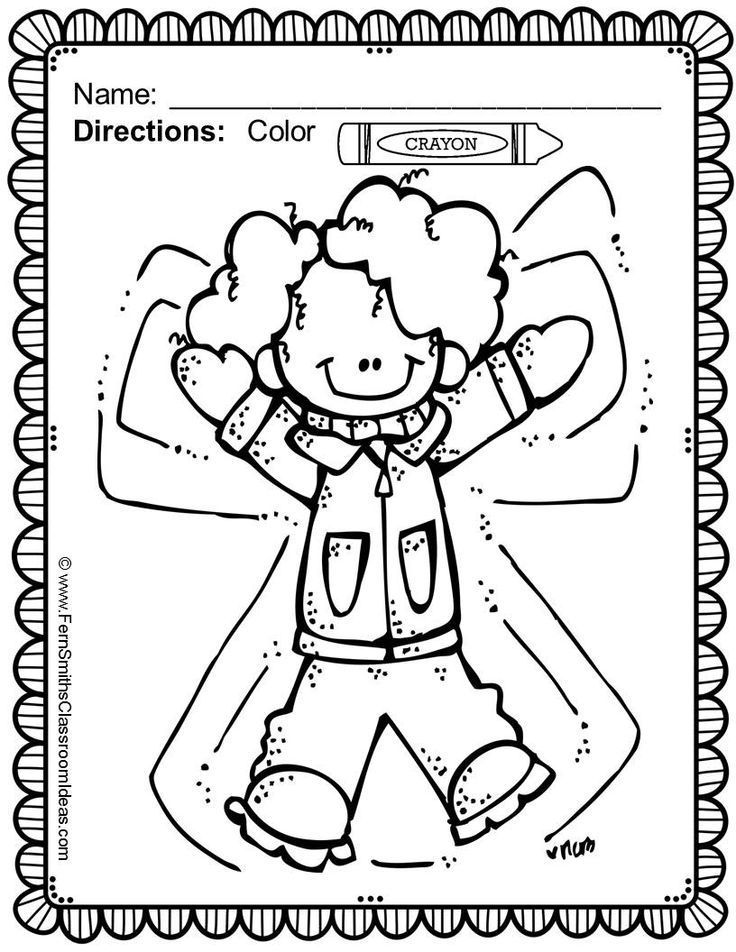 Fernu0027s Freebie Friday ~ FREE Color For Fun New Years and Winter - new snow coloring pages preschool