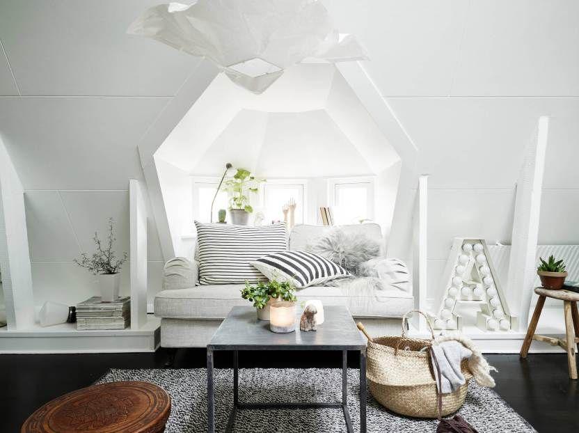 Ático nórdico de 31 m² femenino y cozy Pinterest Estilo nórdico - decoracion de espacios pequeos