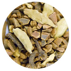Product # 8311 Zingy Ginger, 1.76 oz (50 g) Cinnamon and cloves spice up this blend. A great base for frothed milk and honey. Ingredients: Cinnamon, black pepper, cloves, cardamom, ginger. Organic certified ingredients. Price: $10.00