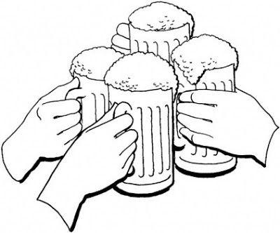 Cervezas Para Colorear Dibujo Jarras De Cerveza Cerveza Disenos De Unas