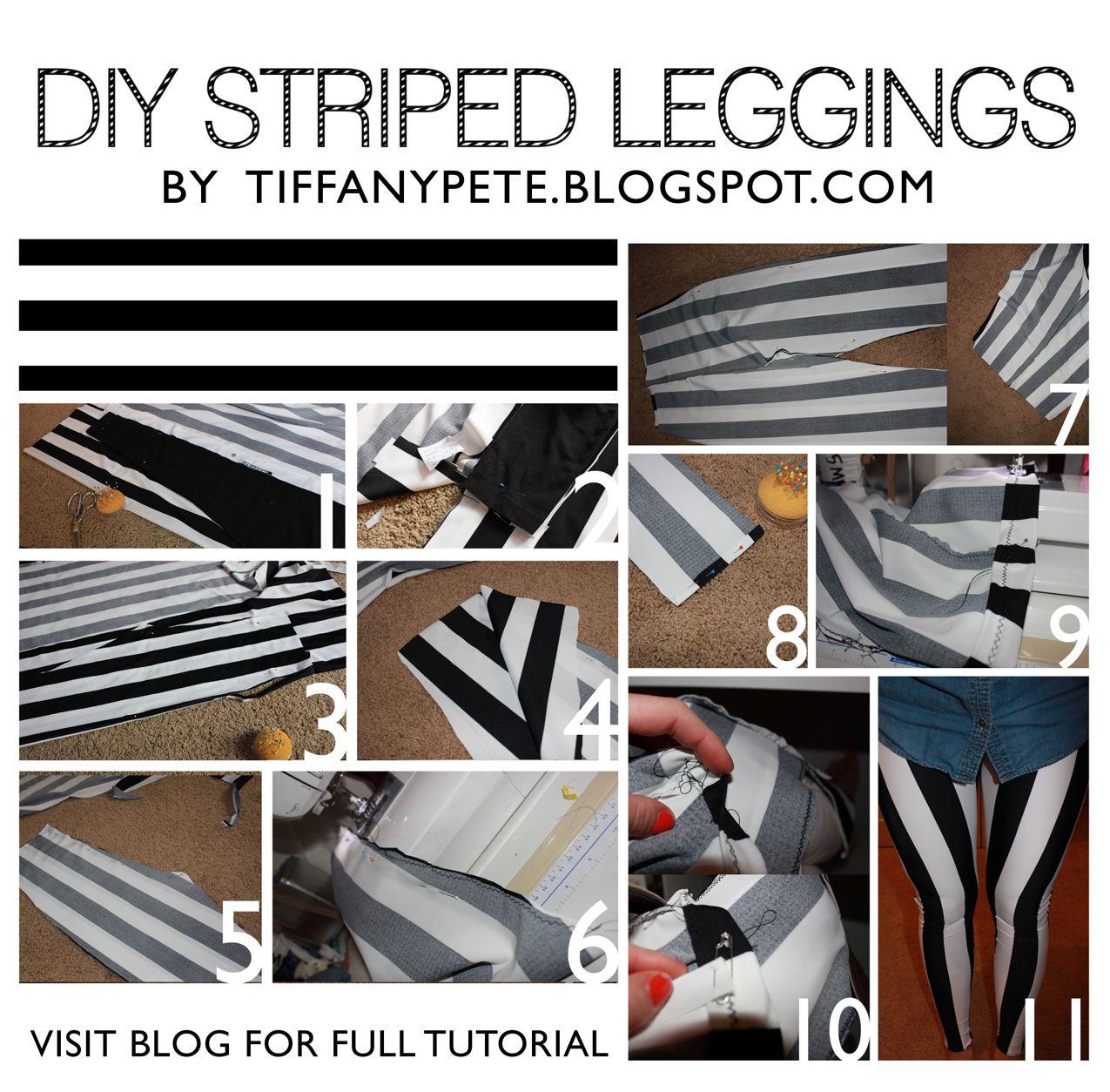 tiffanypete: DIY STRIPED LEGGINGS