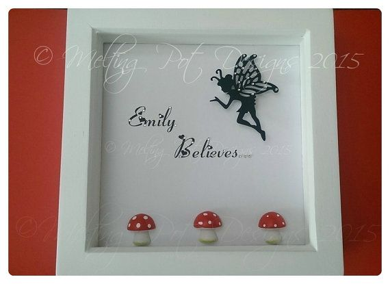 personalised fairy name box frame by meltingpotdesigns on etsy - Etsy Picture Frames