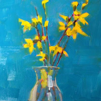 Kelley Macdonald S Daily Paintings Joyful Forsythia