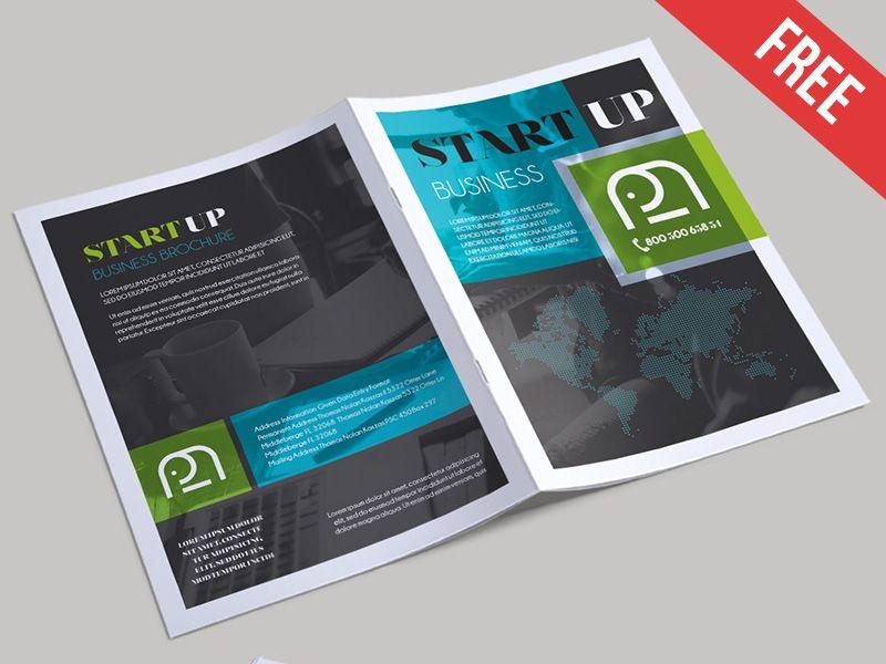 Free Startup Business Bi Fold Psd Brochure Template Free Brochure Template Brochure Templates Free Download Brochure Template