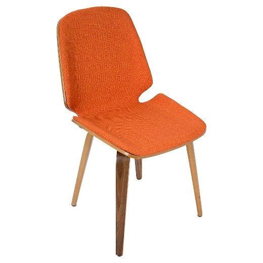 Set Of 2 Serena Mid Century Modern Dining Chair Lumisource Midcentury Modern Dining Chairs Walnut Dining Chair Modern Dining Chairs