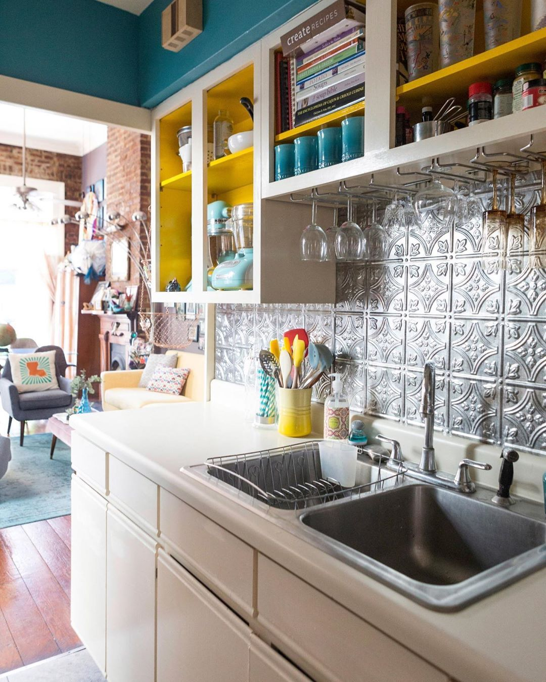 Apartment Therapy On Instagram Your Kitchen Can Be Small And Jam Packed With Style We Rounde Apartment Decorating Rental Rental Kitchen Kitchen Design Small