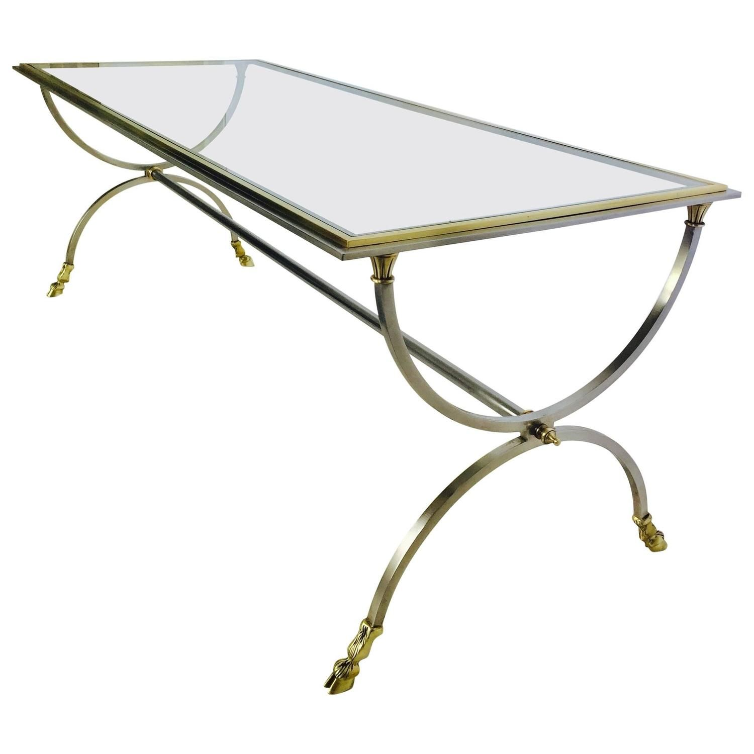 Glass Top Coffee Table By Maison Jansen See More Antique And