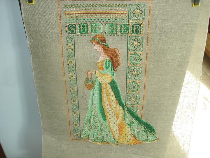 Yellow/green celtic summer conversion.   Cross stitch w color ...