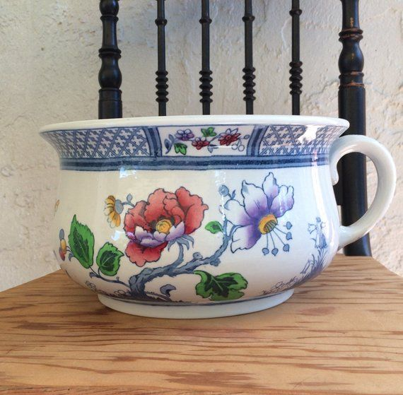 Antique Chamber Pot Losol Ware Keeling & Co Pottery Burslem England