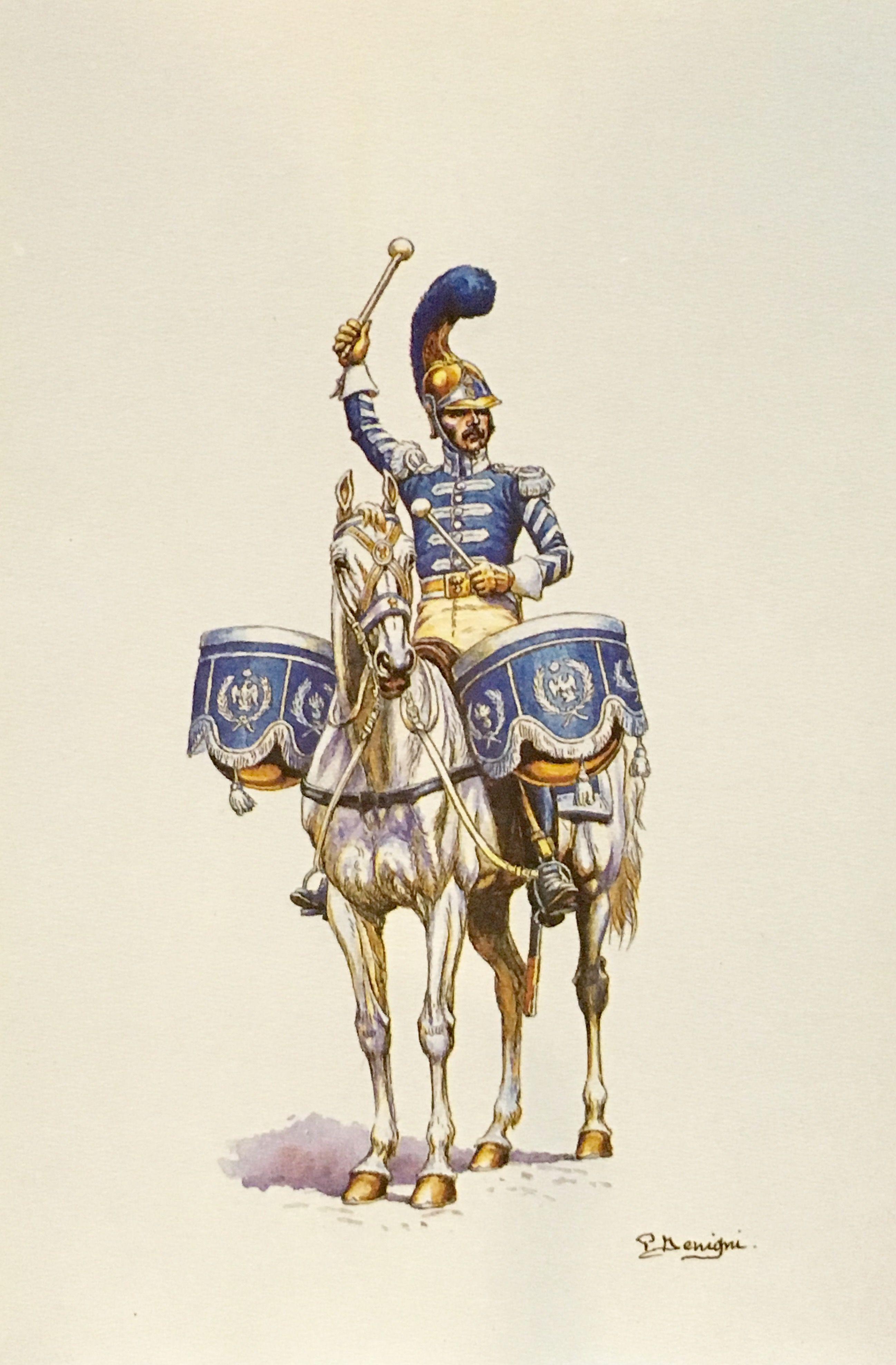 Timpanista del 2 rgt carabinieri stampe di pierre for Stampe di campagna francese