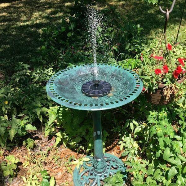 Solar powered easy bird fountain kit | Bird fountain ...