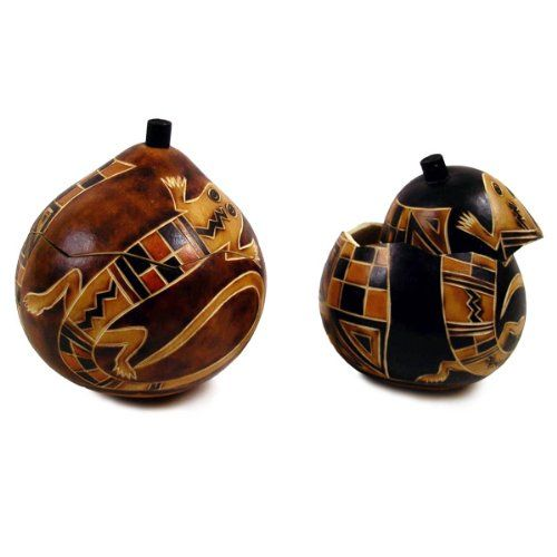 New Hand Carved Gourd Box Lizard Sw Mimbres Natural ** You can find more details by visiting the image link. (This is an affiliate link) #DecorativeAccessories