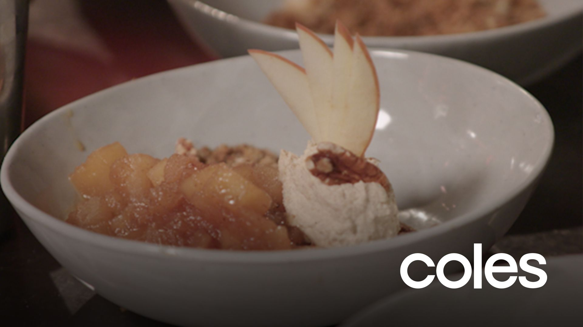 Victor & G's Bourbon Buttered Apple Crumble | My Kitchen Rules #kitchenrules