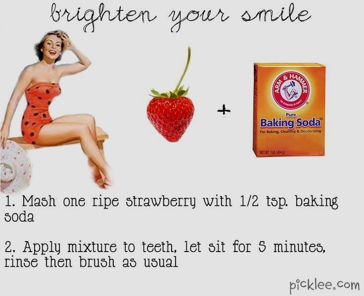 Baking soda is found in most toothpastes and whiteners so