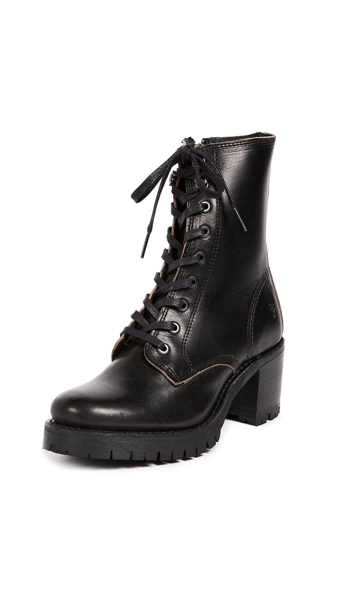 Sabrina Moto Lace Up Combat Boot