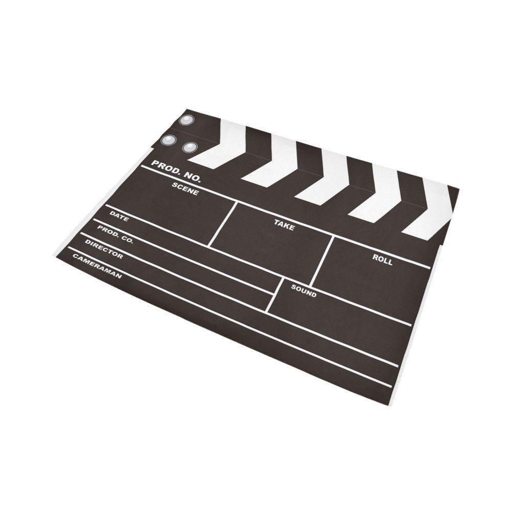 Interestprint movie clapboard area rug carpet 7 x 5 feet
