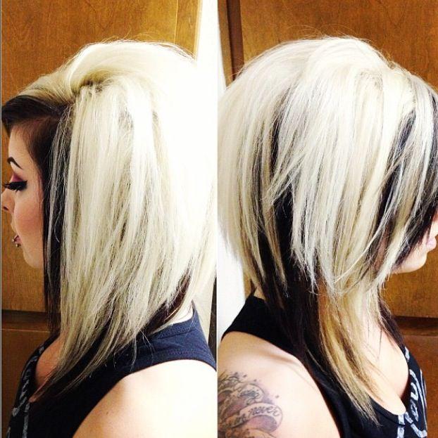 Blonde Hair With Black Underneath Hair Inspiration Hair Styles