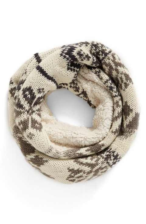 BP. Fleece Lined Fair Isle Infinity Scarf | Brr..It's Cold ...