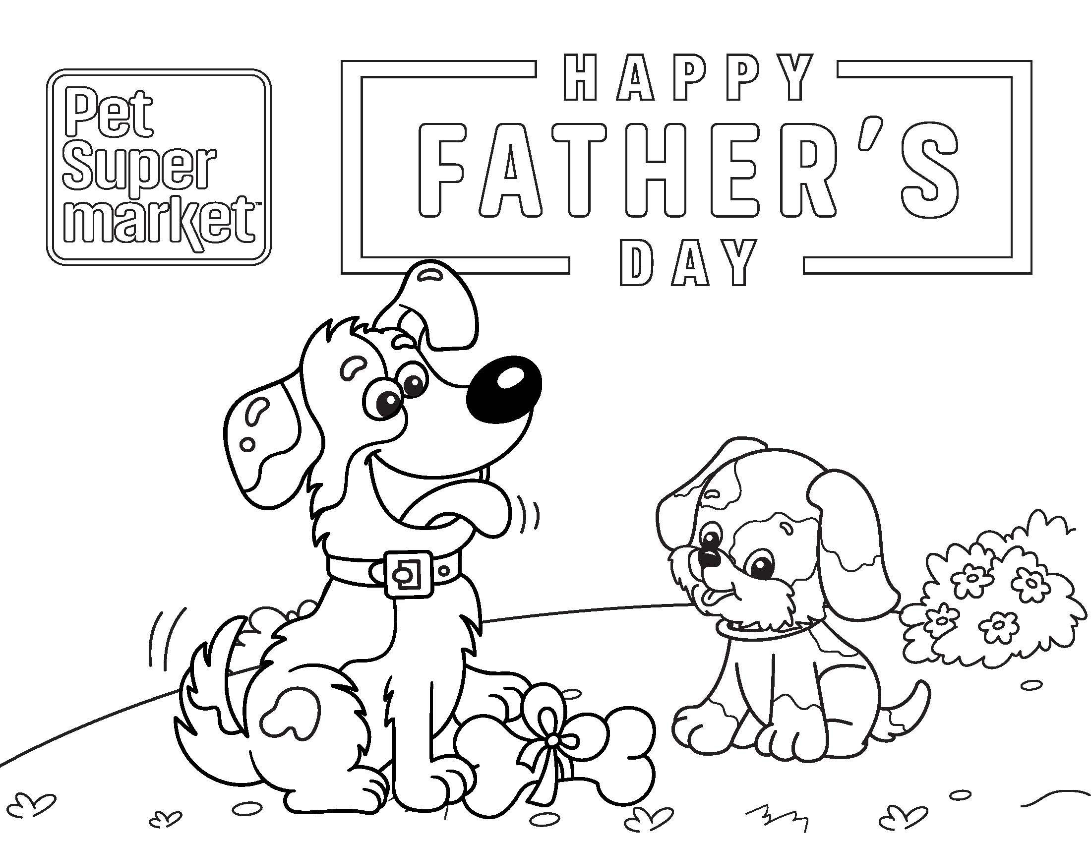 Fathers Day Pet Coloring Page Pet Supermarket Happy Animals Cute Coloring Pages