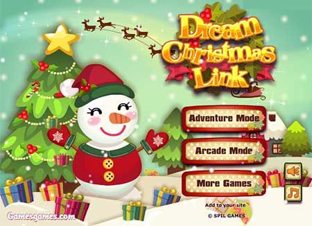 dream christmas link game match your way to a very merry christmas - Merry Christmas Games