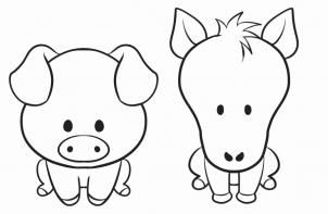How to Draw a Simple Animal Step by Step Farm animals Animals