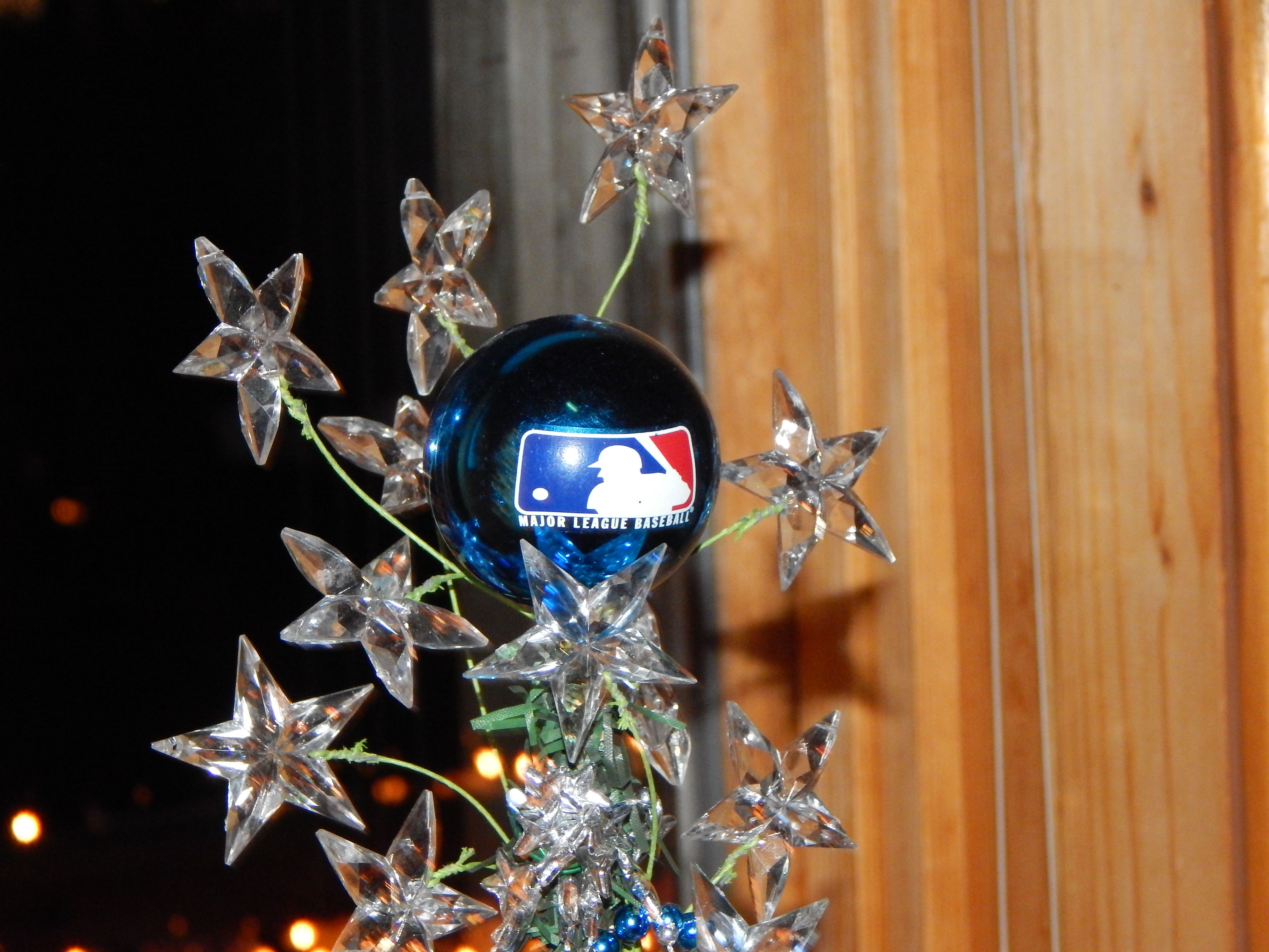 Tree Topper On Our Baseball Tree Tree