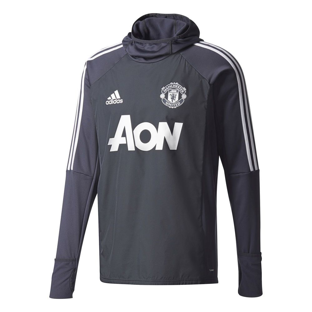 d1ec13ae Manchester United Training Warm up Top Dark Grey Mens adidas | Sporting  Goods, Football Shirts, English Clubs | eBay!