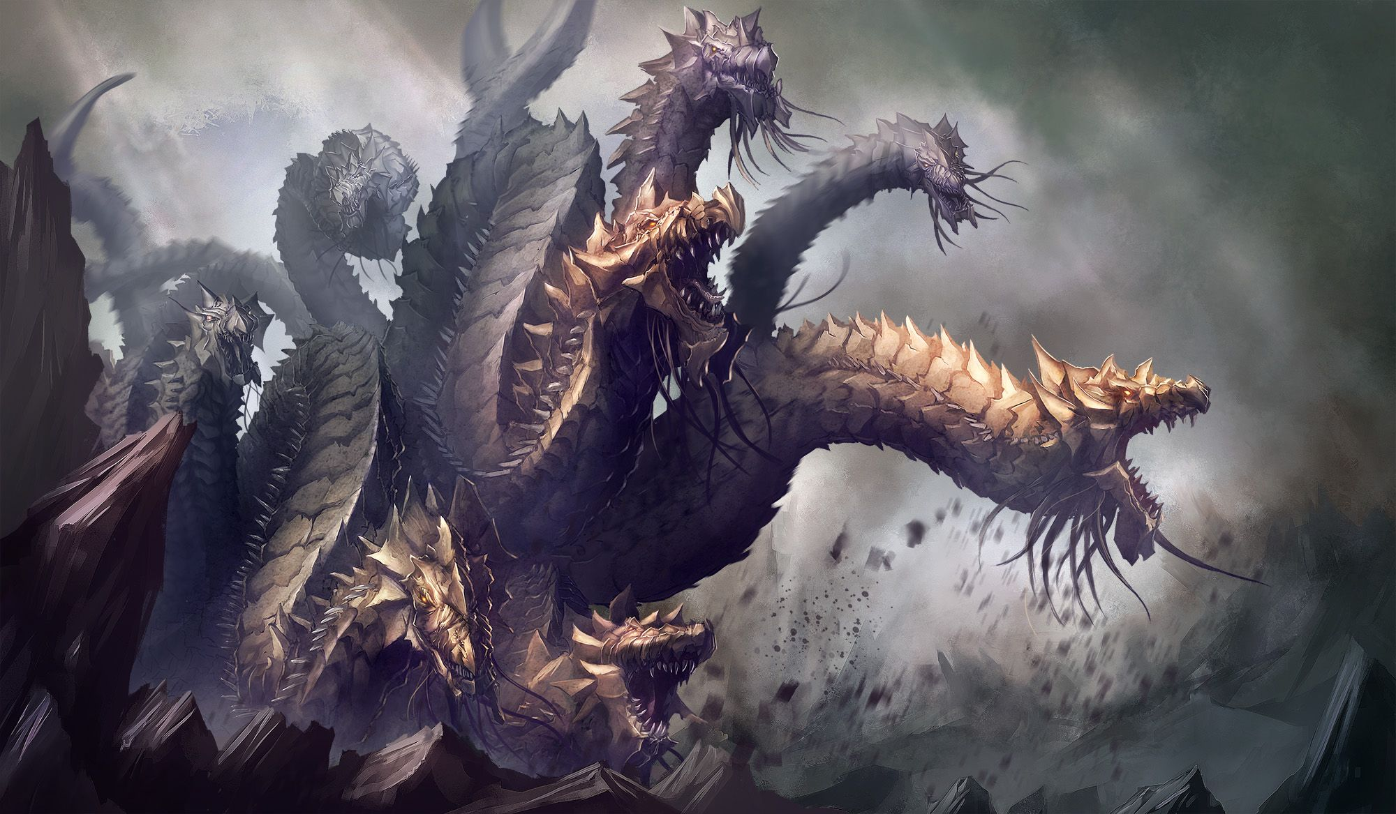 Hydra By Yoso999 On Deviantart Greek Mythological Creatures Mythological Creatures Mythical Creatures