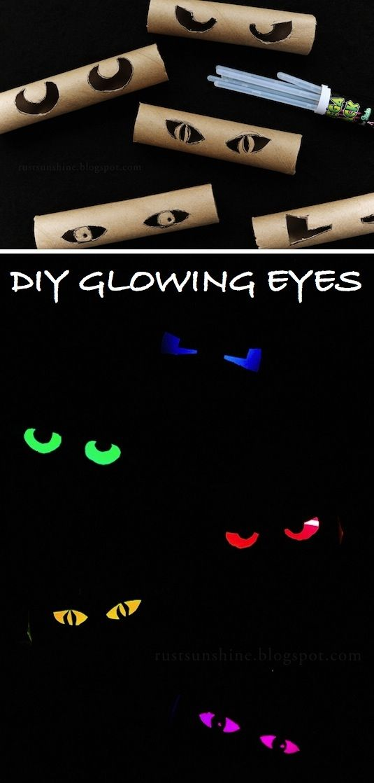 Glowing eyes eyes craft halloween crafts crafty decorations glowing - halloween handmade decorations