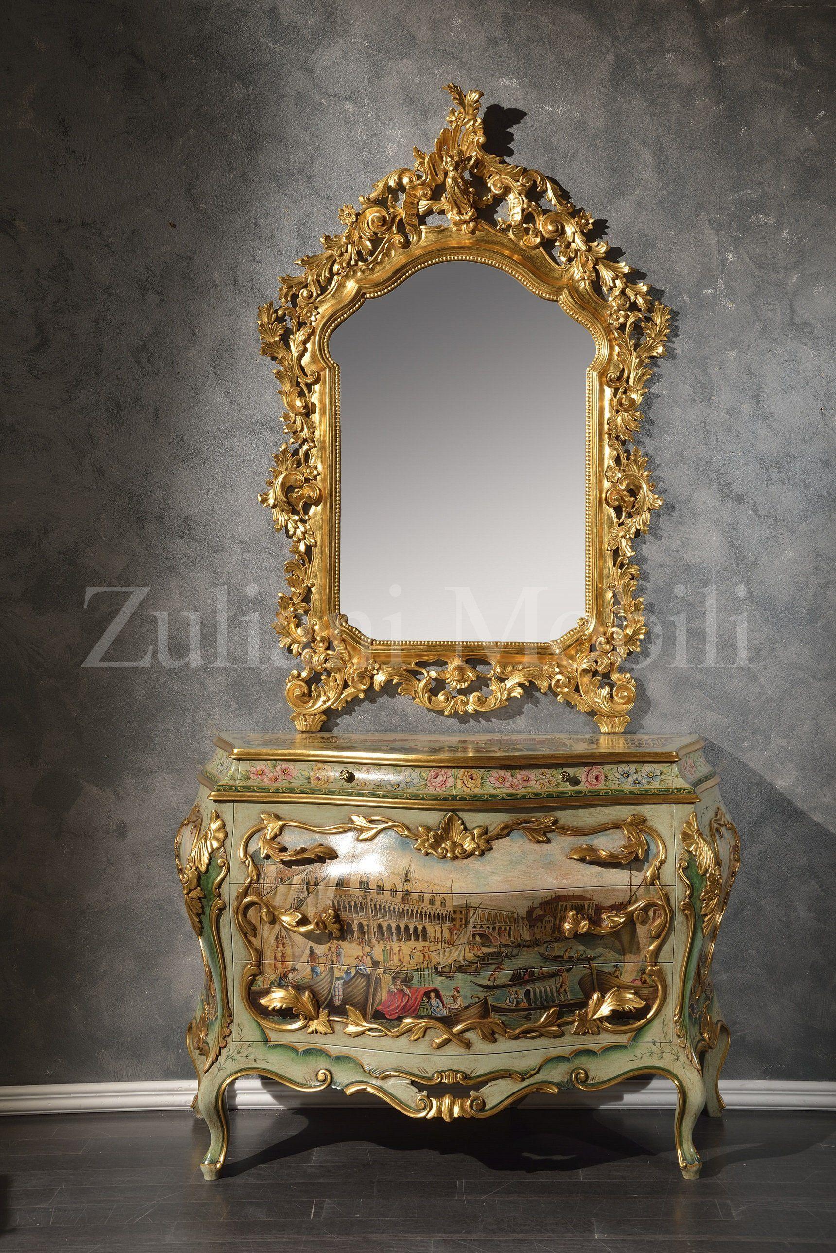 Com e specchio della collezione antica venezia for Mobili veneziani