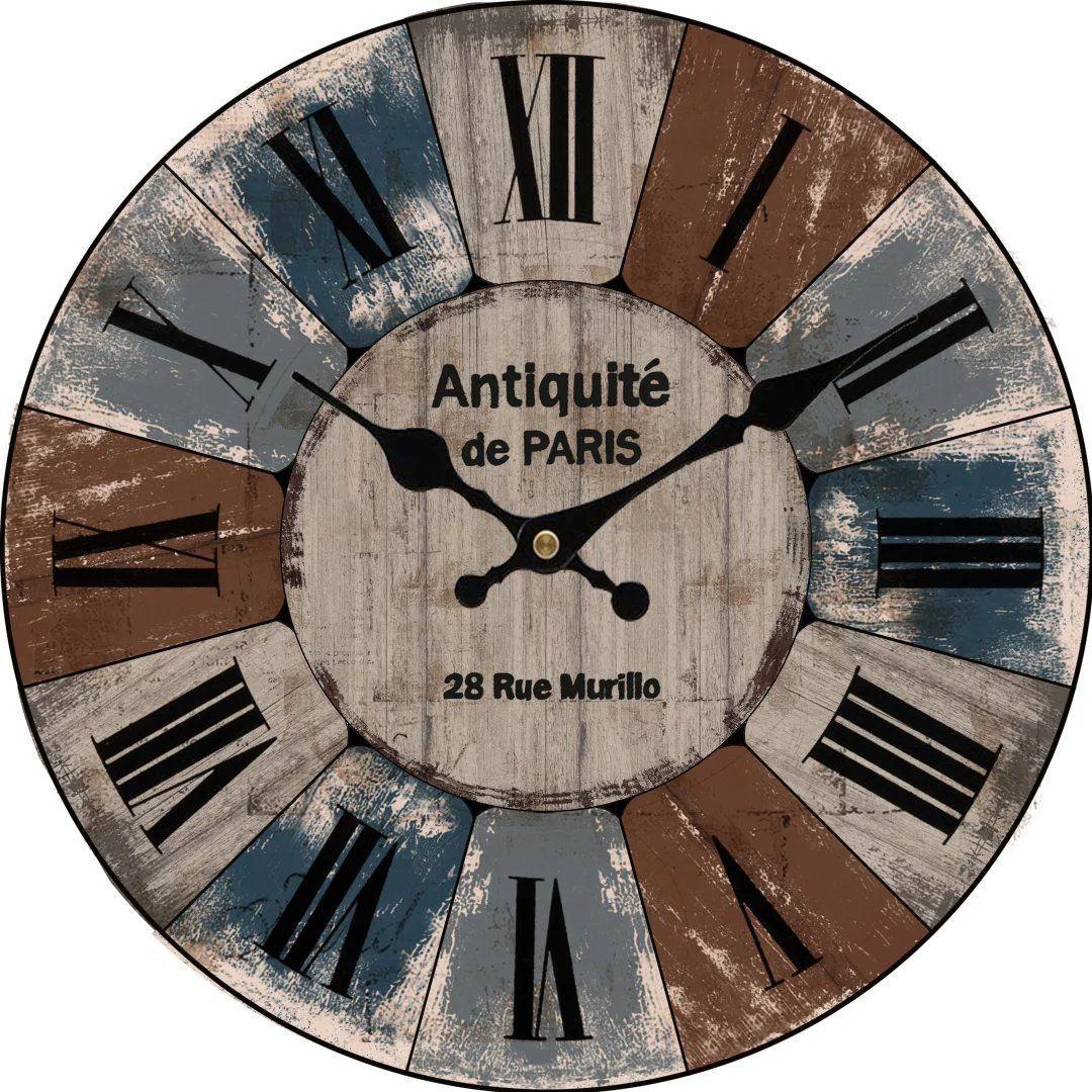 Upuptop 16 Vintage Wood Wall Decor Clock French Rustic Industrial Look Antiquite De Paris You Can Find More Details By V Clock Wood Wall Decor Vintage Wood