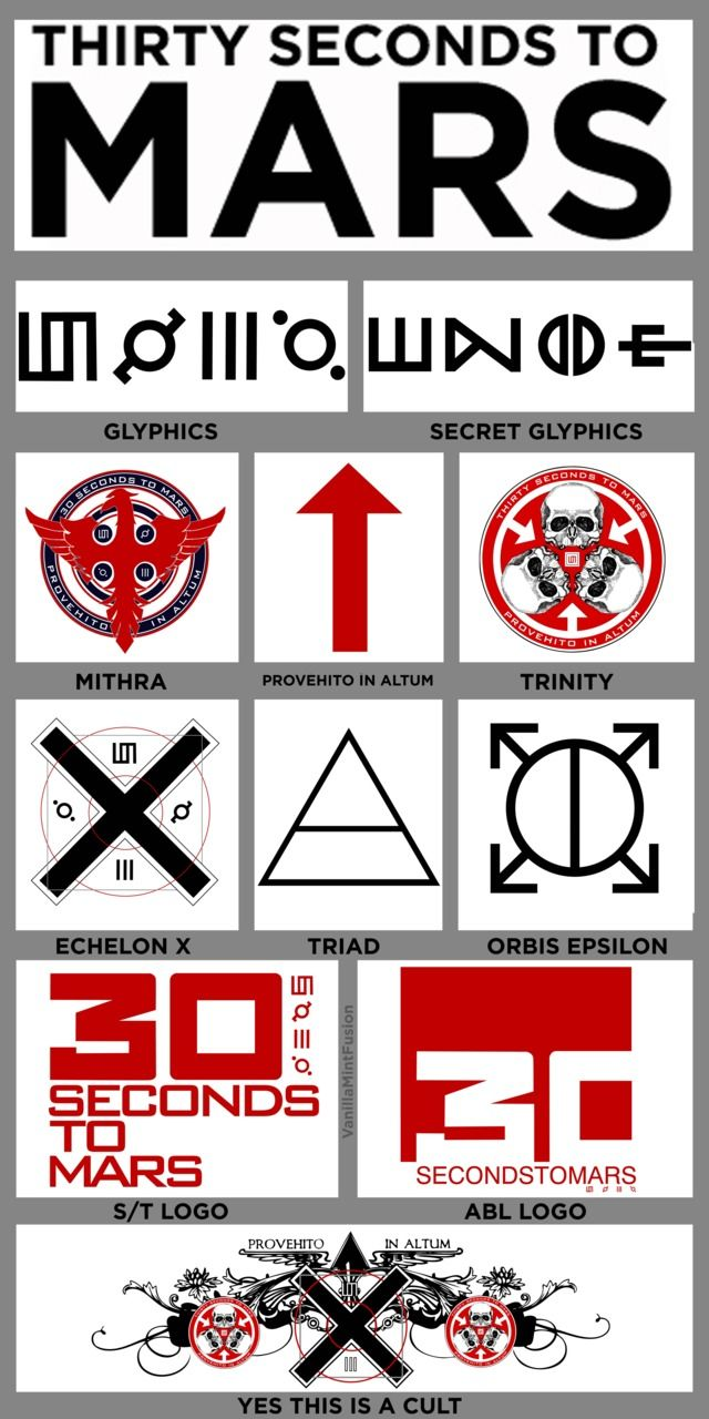 30 Seconds To Mars Logos And Artwork Ink Pinterest 30