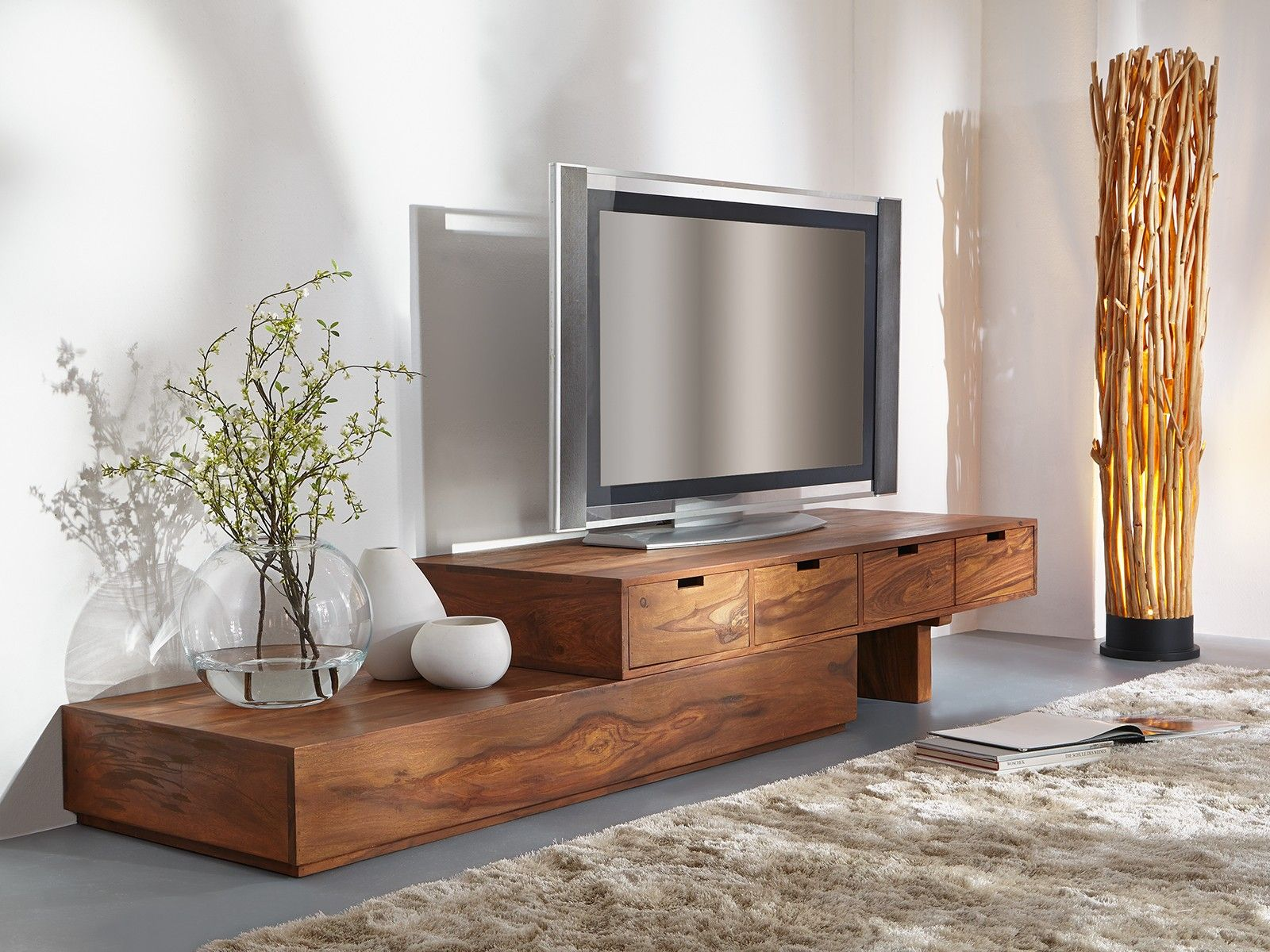 meuble tv asym trique country en palissandre miel 1 buffet pinterest meuble tv miel et tv. Black Bedroom Furniture Sets. Home Design Ideas