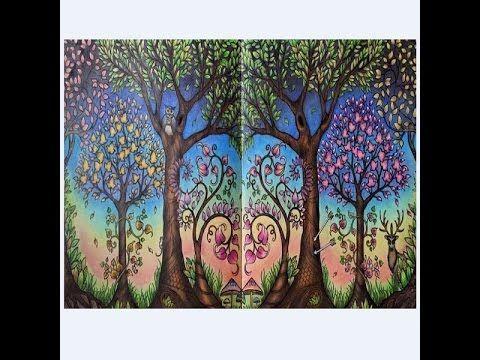 Secret Garden Coloring Book Johanna Basford Adult Books Gardens Filmer Colored Pencil Tutorial Tangle Doodle