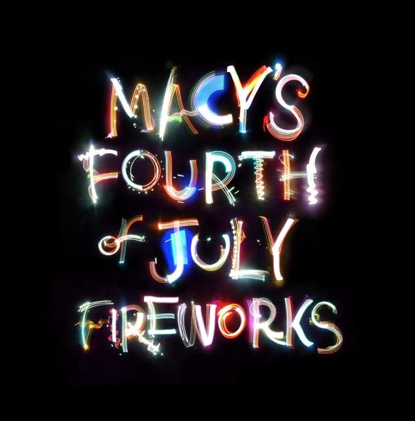Typography / Macy\\\\\\\'s 4th of July typography