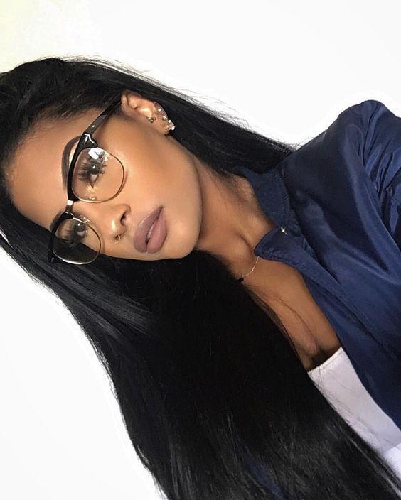2499228665 15 Chicas que te tentarán a pintarte el cabello de negro in 2019 ...