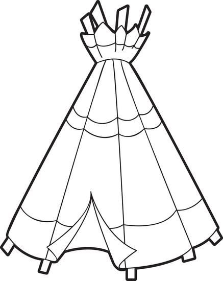 Printable Teepee Coloring Page For Kids Coloring Pages For Kids Pilgrims And Indians Free Coloring Pages