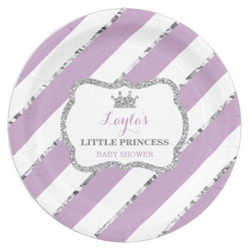 Little Princess Paper Plate Purple Silver Paper Plate  sc 1 st  Pinterest & Little Princess Paper Plate Purple Silver Paper Plate | Princess ...
